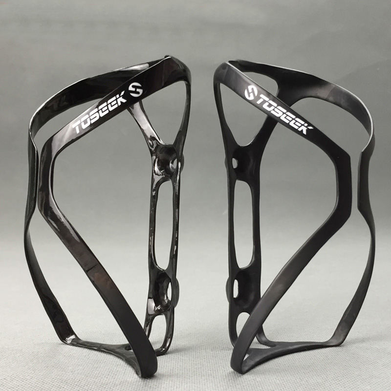 UD Mat Glossy Black TOSEEK Carbon Water Cage Flaske Cykling Cykling Cykel Cage Flaskeholder 2PCS / LOT