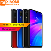 Global Version Xiaomi Redmi 7 3GB RAM 32GB ROM Snapdragon 632 Octa core 4G Mobile phone 6.26 inch 12MP +2MP Dual Rear Camera