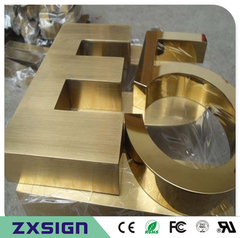 Factory Outlet Outdoor golden stainless steel decorated letters