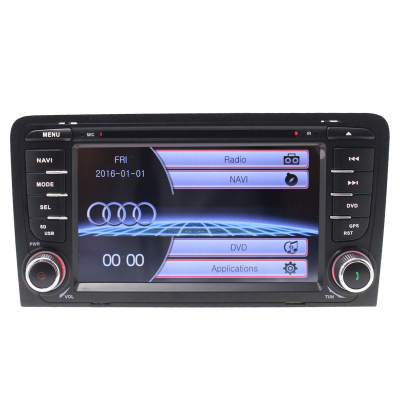 Dual Core 800 480 Car DVD GPS Navigation Player Car Stereo for Audi A3 2003 2011