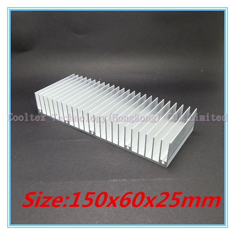 (Special offer) High quality 150x60x25mm radiator Aluminum heatsink Extruded profile heat sink for Electronic heat dissipation