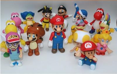 1pcs Super mario bros mini mario Luigi yoshi dinosaur mushroom one piece figure action toy PVC figure game mario model doll