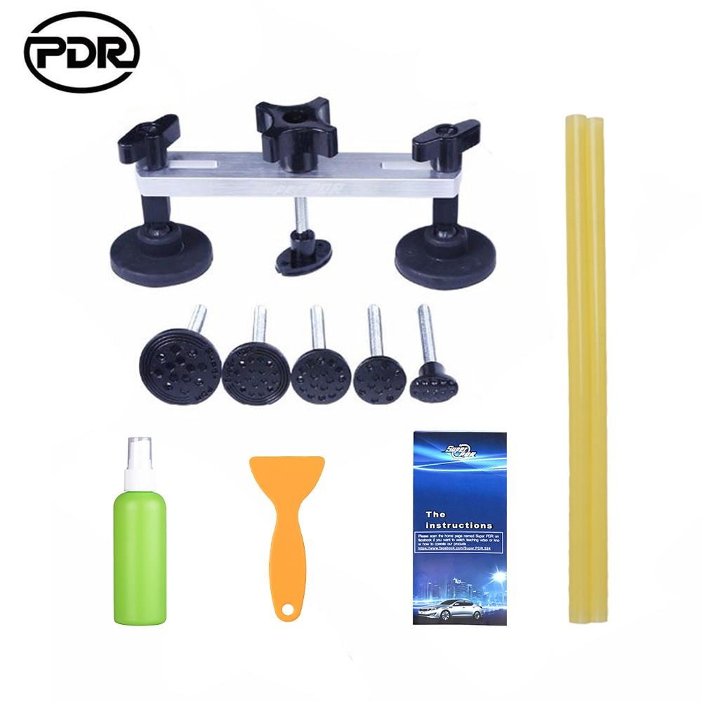 Auto Repair Tool Set Kit di Strumenti PDR Ammaccature senza vernice di Rimozione Kit di Riparazione Del Corpo vettura Tirando Ponte Dent Puller Colla Adesiva rimozione