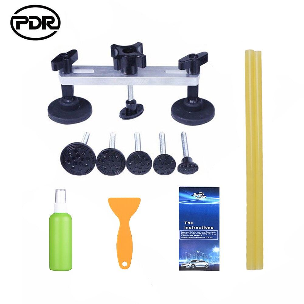 Strumento di Riparazione Auto Set PDR Tool Kit Paintless Dent Auto di Rimozione di Riparazione Del Corpo Kit Tirando Ponte Dent Puller Colla Adesiva di rimozione