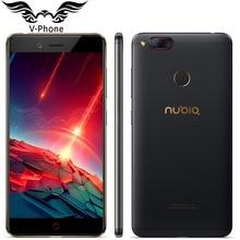 Oryginalny ZTE Nubia Z17 mini LTE 4G Telefon komórkowy 6 GB 64 GB 5.2 cal Snapdragon 653 Dual Kamera Tylna 13MP + 13MP Linii Papilarnych NFC