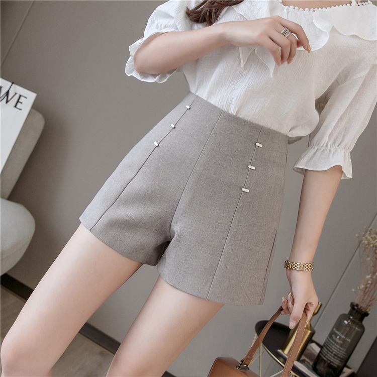 Summer Shorts For Women 2019 High Waist Casual Wide Leg Shorts Loose OL work Wear Solid Shorts 20