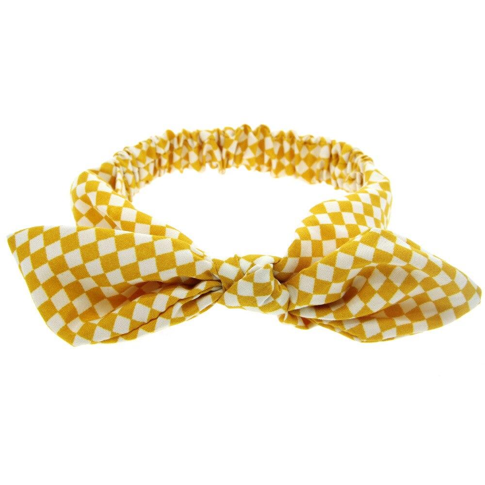 12 Pcs Lot Gaya Cina Kelinci Telinga Simpul Rambut Bando Titik Garis Kisi Handmade Aksesoris Party Dress Up Terbaik Hadiah Di Dari