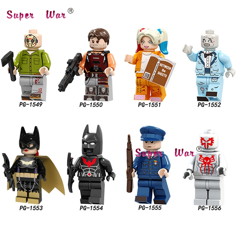 Single Spiderman Black Friday Headhunter Batman Killer Harley Quinn Joker   Brick Building Blocks Toys For Children