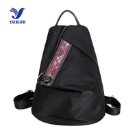 YUBIRD Brand Oxford Cloth Backpack Women Pu Leather Embroidery National School Backpack Bag Girls Simple Style