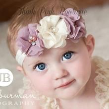 JRFSD 1Pcs Hot Sell Headband With 3 Flower Pearl Diamond Hair Bands Headbands for Girl Elastic Kids Hair Accessories
