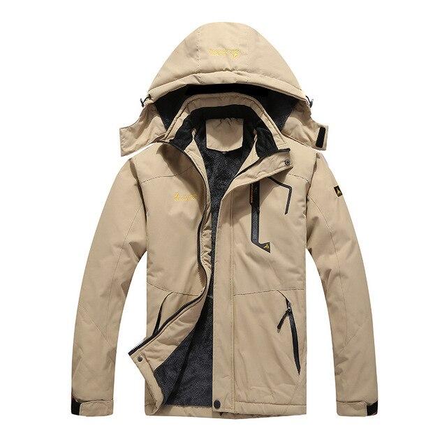 Plus Size L-6XL 8 Colors Winter Parkas Men Warm Thicken Winter Jacket Men  Detachable Hood Waterproof Windproof Coat 133f9f54d