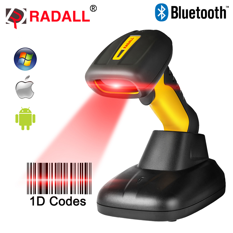 Portable Wireless Bluetooth Barcode Scanner Waterproof IP67 CCD 1D Code Reader Easy Charging Support for IOS Android RD-1205BT scanhero pocket wireless bluetooth barcode scanner laser portable reader red light ccd bar code scanner for ios android windows