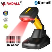 Portable Sans Fil Bluetooth Barcode Scanner Étanche IP67 CCD 1D Code Lecteur Facile De Charge Support pour IOS Android RD-1205BT