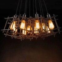1 Kopf Eisendraht Pendelleuchten Vintage Nordic Industrie Beleuchtung Retro Loft Edison Pendelleuchten Für Wohnzimmer  restaurant