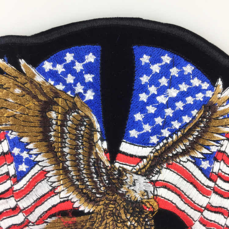 5b445b69 ... PGY Clothing Accessories American Eagle Army Badge Punk Rock Bike Patch  Large Embroidery Biker Patch Motorcycle ...