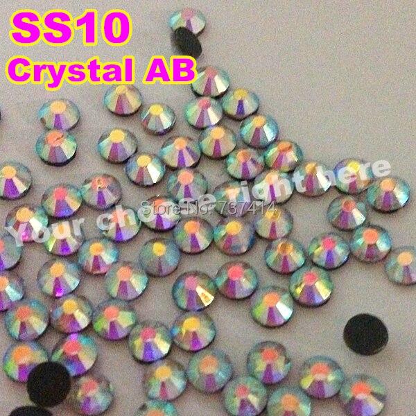 Factory Price 6bags lot SS10 1440pcs Bag Clear AB Crystal DMC HotFix  FlatBack Rhinestones DIY Iron on Glass HotFix Crystal 40ad1e4fe4c2