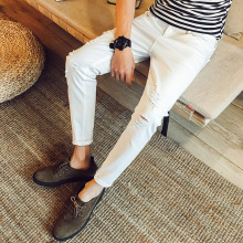 2017 new men Japanese retro nine pants pants male Korean version of the trend of the students wild Souls cave jeans