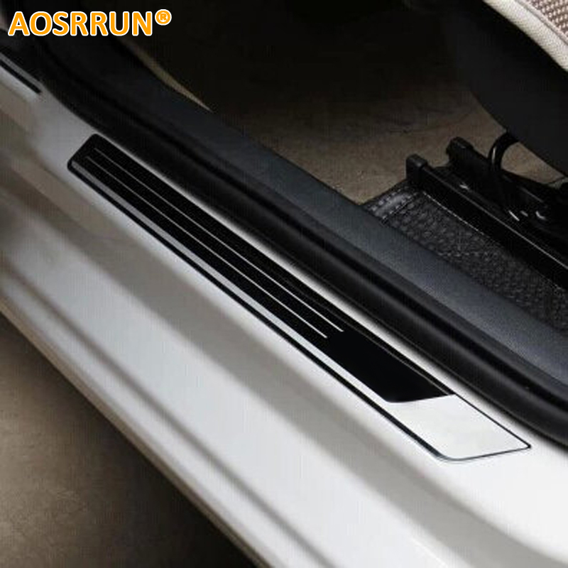 Stainless Steel Car Door Sill Scuff Plate Pedal Car-styling For VW Volkswagen Jetta MK6 2011 2012 2013 2014 2015