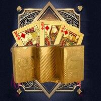 Feuille d'or de luxe cartes de jeu de Poker Dollar EUR motif à carreaux jeu de fête