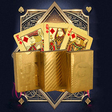 Luxury Gold Foil Poker Play Cards Dollar EUR Plaid Pattern Party Game