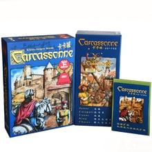 Carcassonne / 5 in 1/2 in 1 Espandi gioco da tavolo 2-5 giocatori per famiglia / party / regalo Miglior regalo divertente gioco di posizionamento delle tessere