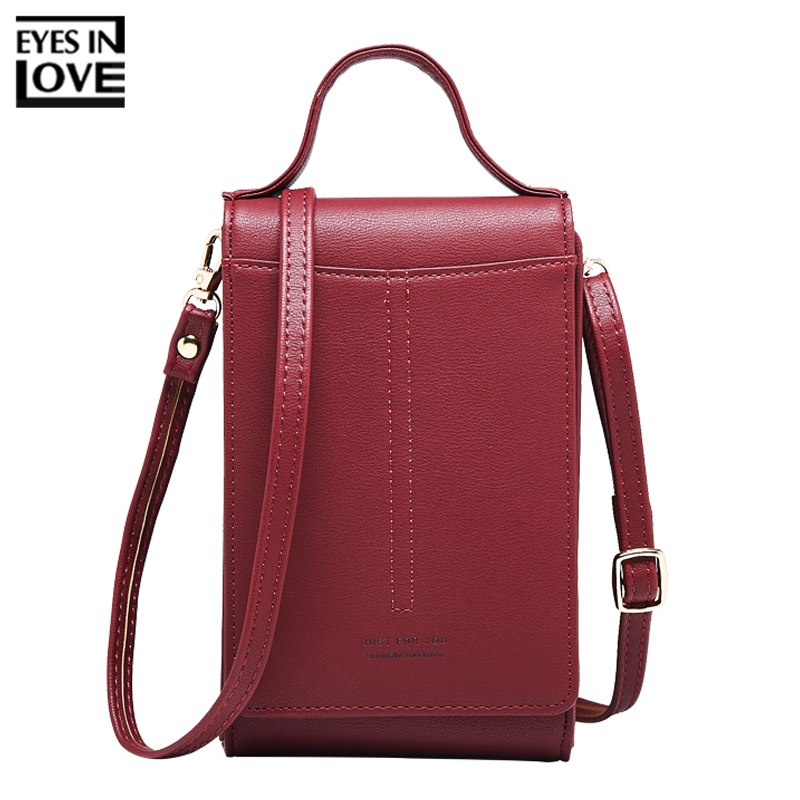 2018 Fashion Mini Crossbody Bags For Women Artificial Leather Small Female Purse Cell Phone Coin Card Purses Ladies Shoulder Bag fashion multi color women leather small mini shoulder phone bag crossbody small strap purse for girls clutch top handle bags sac