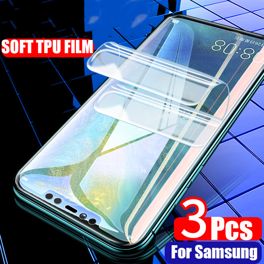 3Pcs Soft TPU Hydrogel <font><b>Sticker</b></font> Front Full Cover Screen Protector Silicone Clear Film For Samsung Galaxy Note 9 8 <font><b>S10</b></font> S9 S8 Plus image