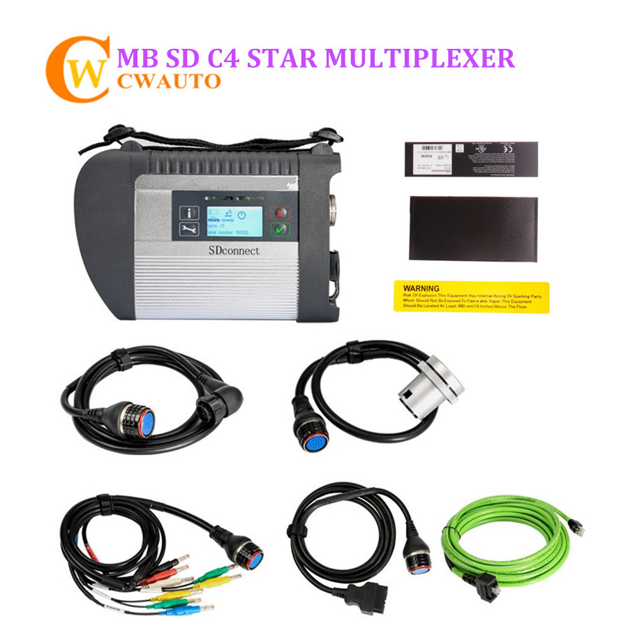 2018 MB SD C4 Star Multiplexer Wifi Full New Chip Support UDS for Cars and Trucks Diagnostic Tool Free Shipping ...
