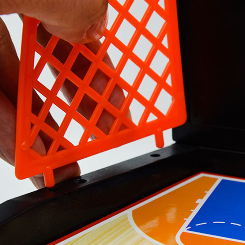 Разрешение тревоги мини баскетбол настольный баскетбол двойной интерактивный Настольный шар пластиковый 2 мяча шутер модель здания