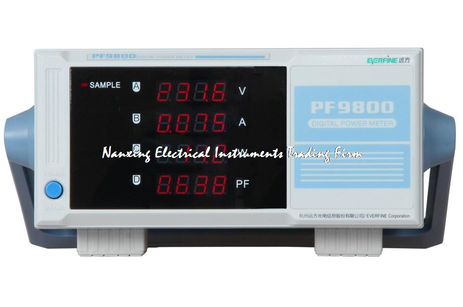 Fast arrival NEW BRAND Everfine PF9800 DIGITAL POWER METER 600V,20A wattmeter intelligence power analyzer for V/A/W/PF fast arrival pm9800 new brand acvoltage current power factor