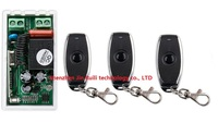 Latest AC 220 V 1CH Wireless Remote Control Switch System 1pcs Receiver 3pcs One Button Metal