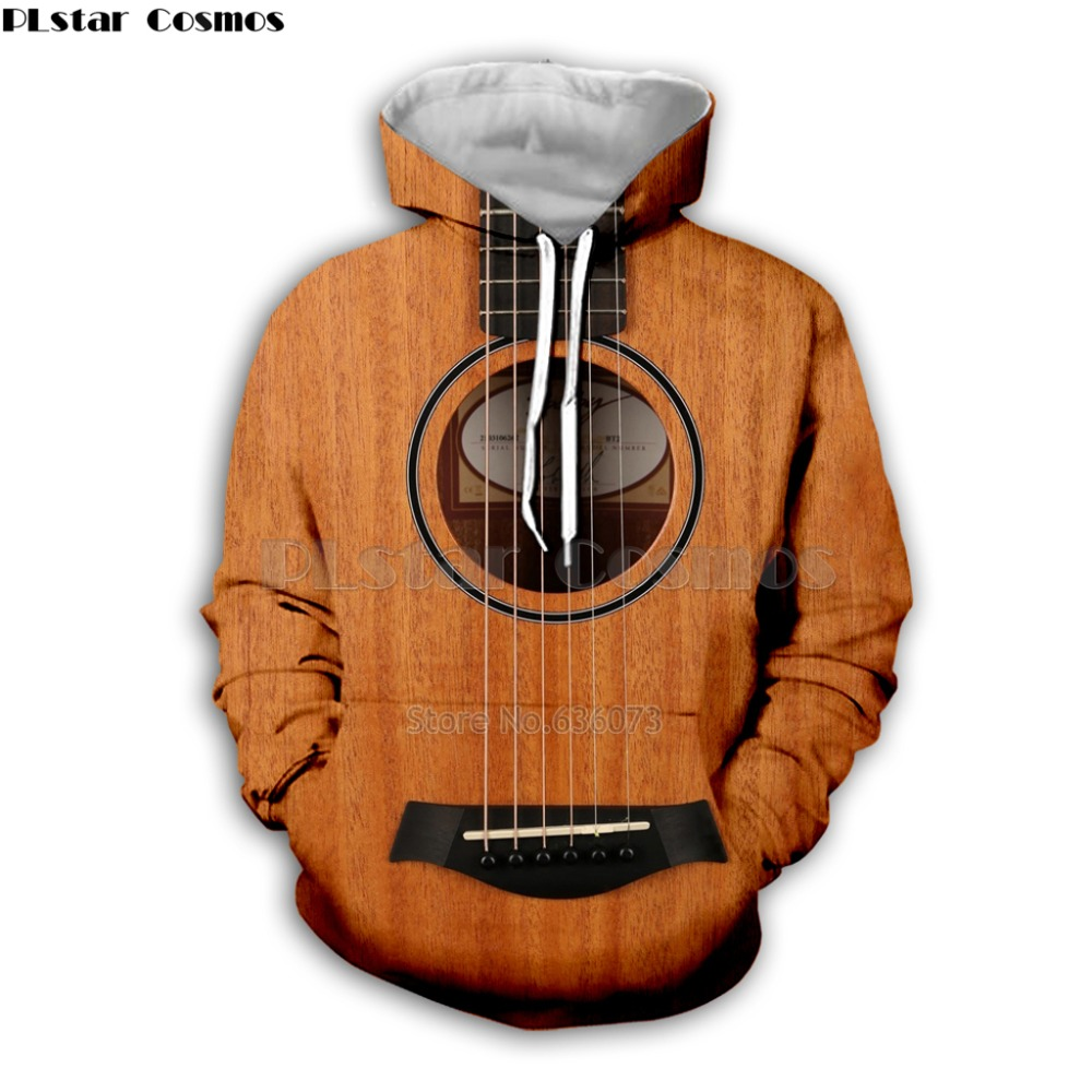 Guitar Art Musical Instrument 3D Print Long Sleeve Fashion Hoodie Hip Hop Tee Style Hooded Streetwear Casual Zipper Tops Style9