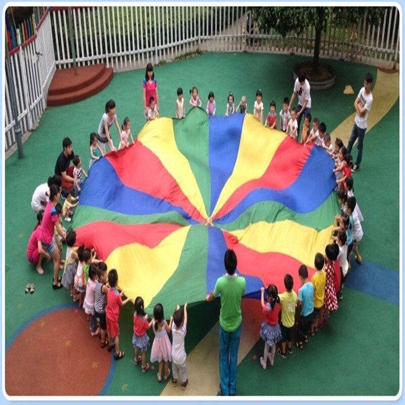 Dia-2M3M-Child-Kid-Sports-Development-Outdoor-Rainbow-Umbrella-Parachute-Toy-Jump-sack-Ballute-Play-Parachute-816-Bracelet-3