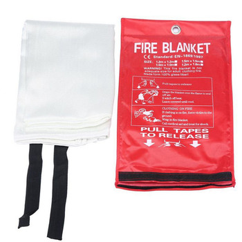 1 2M x 1 2M uszczelniona koc gaśniczy zapewniająca bezpieczeństwo w domu CE zatwierdza gaśnice namiot łódź ratunkowa przetrwanie ochrona przeciwpożarowa tanie i dobre opinie 1 m x 1 m Fire Blanket Fire Shelter Extinguishing Emergency Survival 1 2M*1 2M 100 glass fiber 0 45mm White First Aid Supply