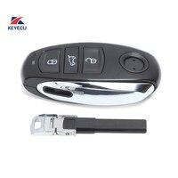 KEYECU Ersatz Fernbedienung Auto Key Fob 3 Taste 868MHz ID46 für VW Volkswagen Touareg 2011-2014