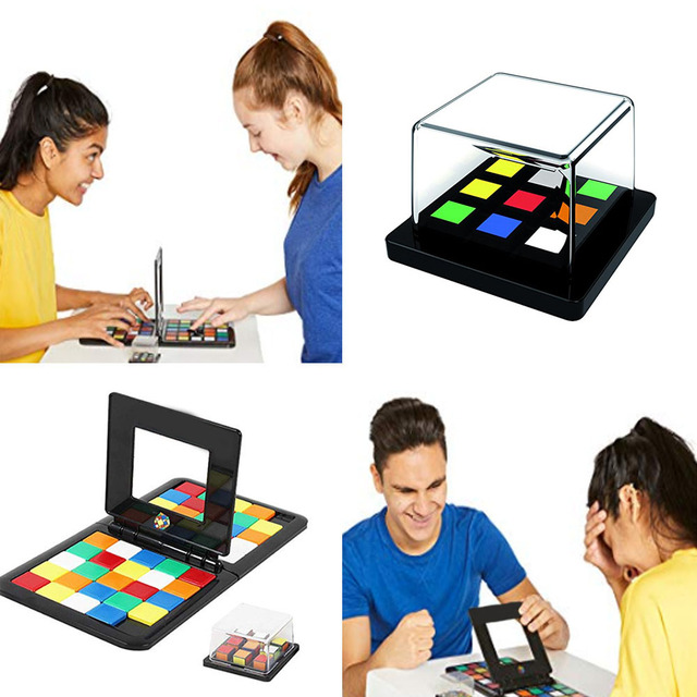 Rubike race parent-child interactive funny family party magic puzzle jigsaw cube games board learning 2 in 1 for kids adults