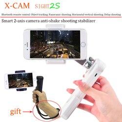 X-Cam SIGHT2S Bluetooth Smartphone Gimbal ręczny stabilizator kamery dwóch osi wsparcie poziome i pionowe dla iPhone Samsung