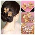 gold wedding hair clips vintage  hair accessories wedding hairpins for bride