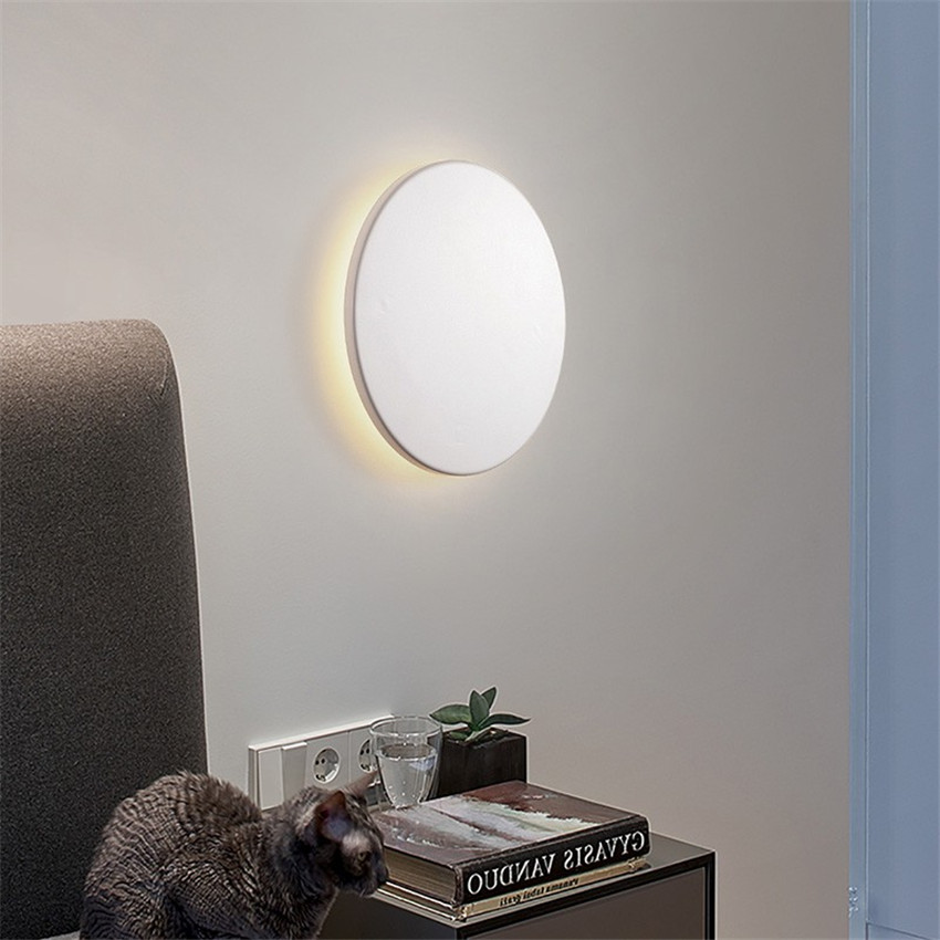 Image 3 - Indoor Round LED Wall Lamp Living Room Decoration Wall Light Aluminum Home Lighting Fixture Loft Stair Light AC90 260V  NR 138-in LED Indoor Wall Lamps from Lights & Lighting
