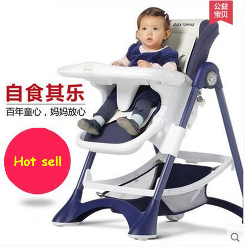 Baby dinner chair portable foldable wooden highchairs - Table enfant avec chaise ...