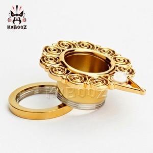 Image 5 - KUBOOZ Piercing screw back ear plugs piercing body jewelry gold ear tunnels stainless steel opal gauges wholesale