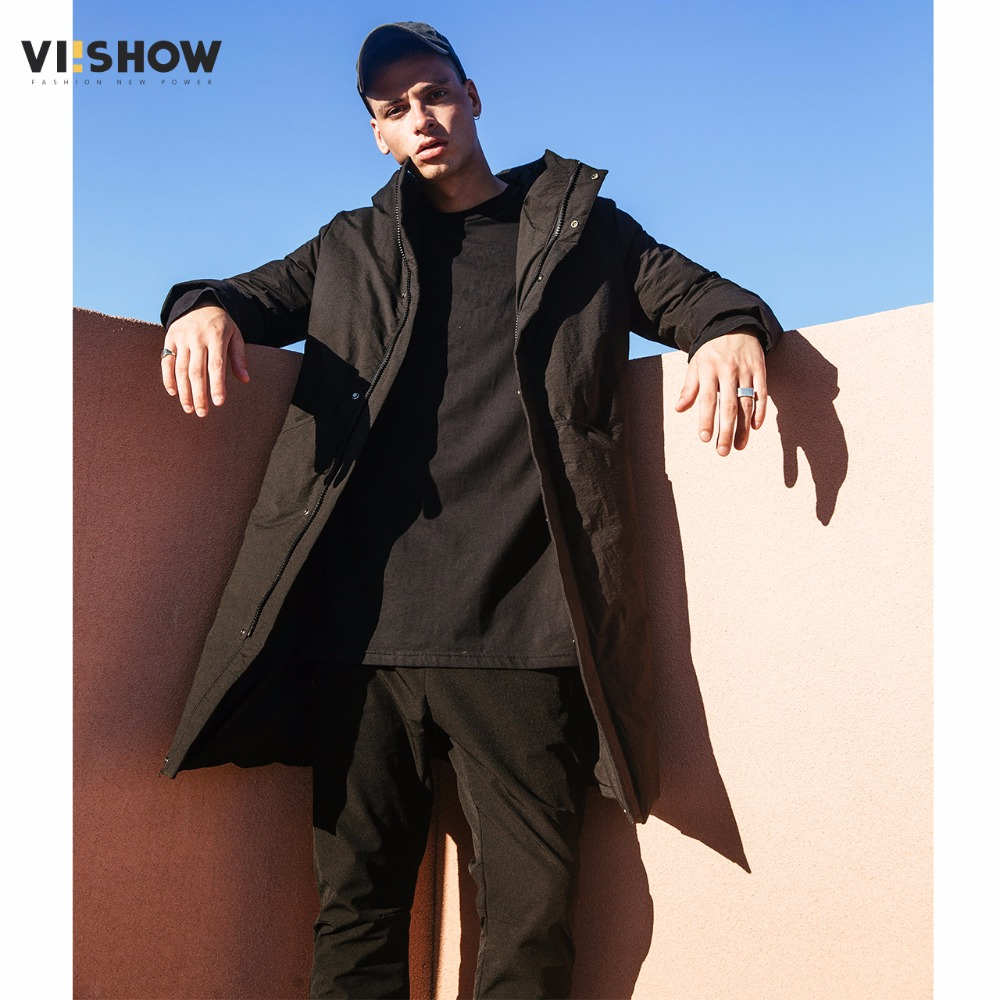 VIISHOW 2017 Winter Down Jacket Men New Black Duck Down Coat Hooded Top Quality Brand Clothing Long Male Down Parkas YC2670174 viishow 2017 new long winter jacket men brand clothing male cotton autumn coat new top quality black down parkas men mc2118174