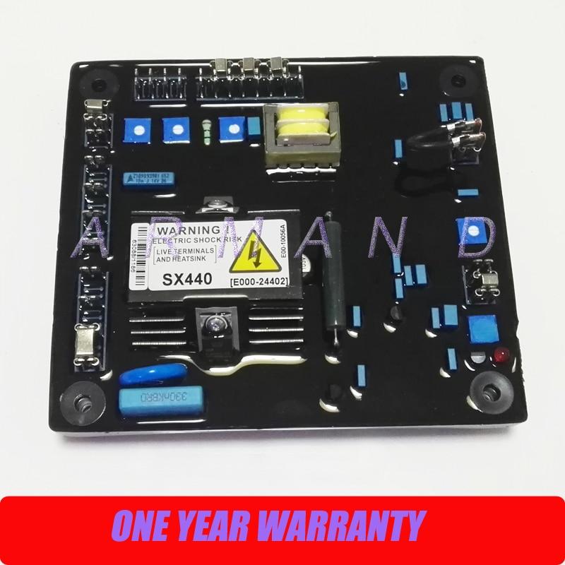 New AVR SX440 automatic voltage regulator for generator excitation sx440 avr for stamfod alternator sx440 generator avr sx440 voltage regulator