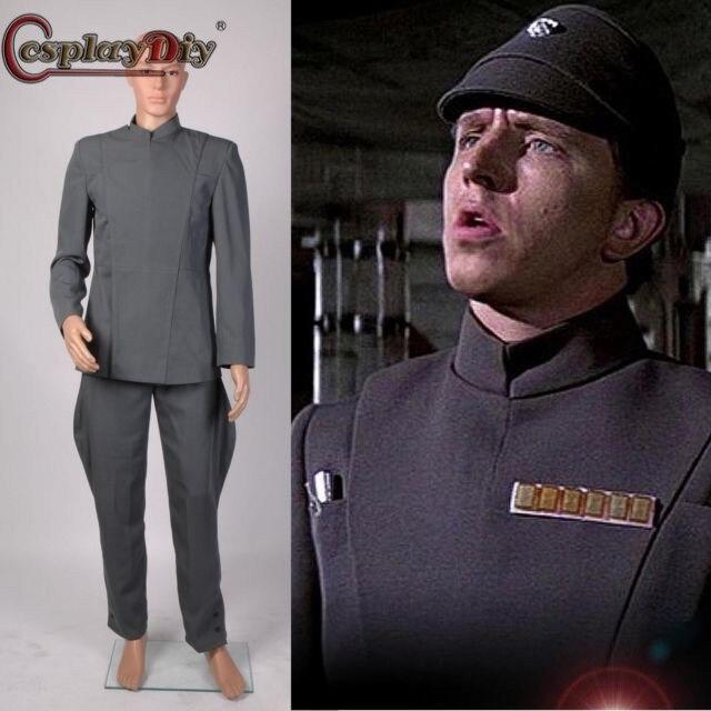 Cosplaydiy Star Wars Imperial Officer Grey Uniform Top Pants Full Set Halloween Carnival Cosplay Costume Custom Made