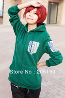 Fashion Unisex Shingeki no Kyojin Attack On Titan Investigation Recon Corps Clothing Hooded Sweatshirt Cosplay Unisex Hoodie
