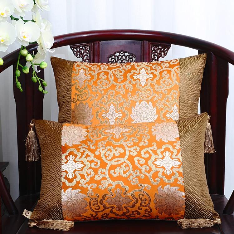 Классические Лоскутные цветочные шелковые наволочки для декоративных подушек подушечки высокого качества стул для дома офиса диванная подушка крышка