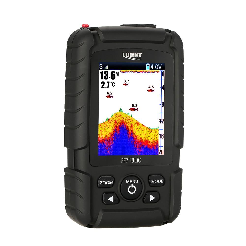 LUCKY FF718LiC Wireless Sea Fish Finder  Wired/Wireless 328ft /100m Sonar LCD Fishing Lure Bait Echo Sounder Carp Fishing Finder Эхолот для рыбалки