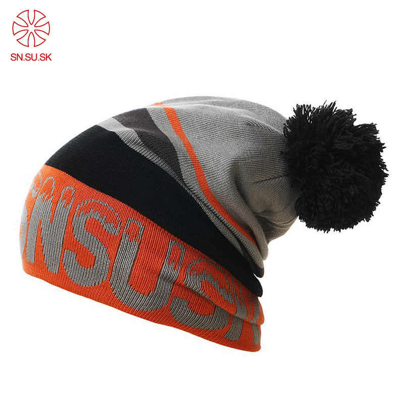 516a2c390aa 2019 Winter gorros SNSUSK skating snowboard skullies Hat Beanies for man  woman beanie Sports Knitted Ski
