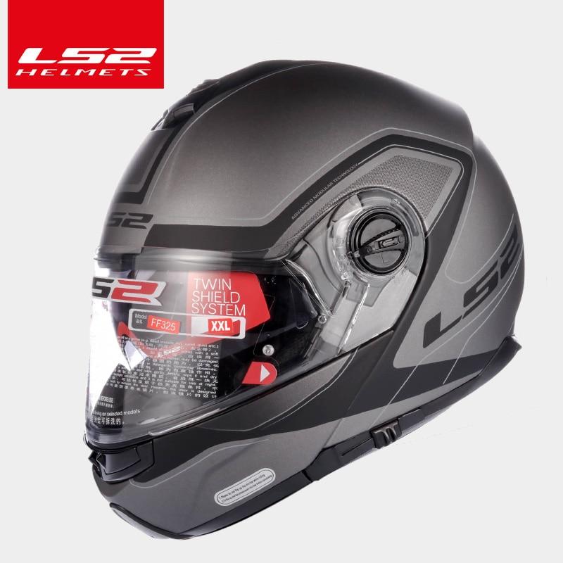 ee09e23afef LS2 Global Store LS2 FF325 flip up motocycle helmet double sun shield lens full  face helmet moto racing helmets