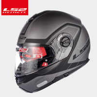 LS2 Globale Negozio LS2 FF325 flip-up moto casco ciclo doppio sun shield lente del fronte pieno del casco moto caschi da corsa